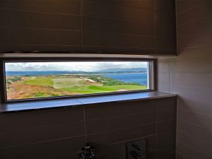 Lavatory view from men's loo.