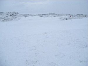 Carne Golf Links in Snow